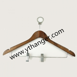 Easy to use China hanger supplier hotel anti theft wooden clothes hanger[WST 009]