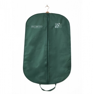 Green customized design suits garment and cover bags with logo