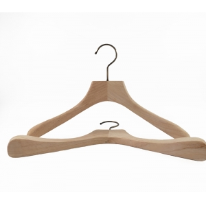 High end customized natural wooden hanger for coat