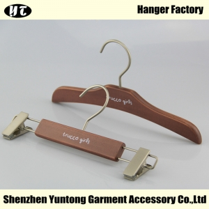 KSW-002 hot sale children top hanger wooden pants hanger for baby