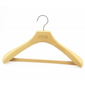 MSW-006 natural wooden bar hanger for man suits clothes