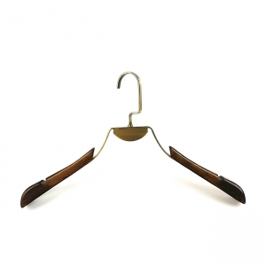 New design clothes wooden  and metal hanger China hanger supplier [SWT-037]