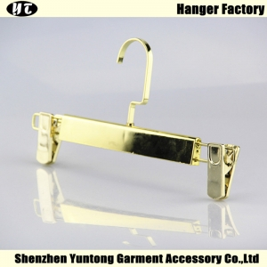 PBE-001 Gold color plated plastic pant hanger