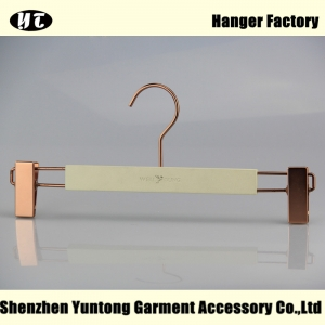 WBM-006 high end customized  wooden pants hanger for women