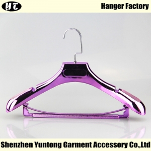 WSE-001 electroplated luxury hanger with bar suits hanger for women dress