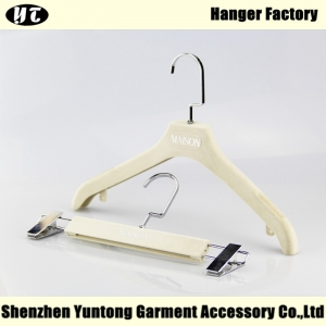 WSV-003 creamy white women clothes hanger for dress