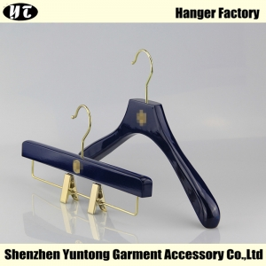 WSW-002 blue high quality wooden top hanger and bottom hanger