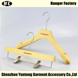 WSW-008 China hanger supplier women suit clothes wooden hanger with natural finish
