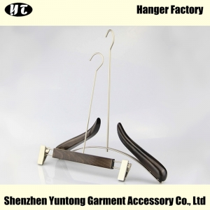 WSW-014 fashion design luxury wooden display clothes hanger long hook wooden hanger