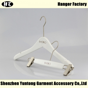 WSW-004 white wooden top hanger pant hanger for women