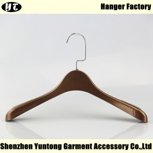 WTE-009 brown palstic electroplating top hanger for woman