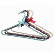 China Beautiful colorful customized elegant pearl hanger with bownote factory