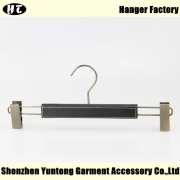 China China hanger supplier black wood bottom hanger coated with leather [MBW-008] factory