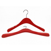 China Customized color wooden hanger wooden coat hanger for clothing factory