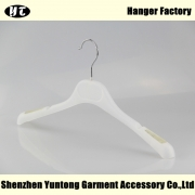 China High quality China hanger factory white plastic shirt  hanger[MTP-003] factory