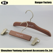 China KSW-002 hot sale children top hanger wooden pants hanger for baby factory