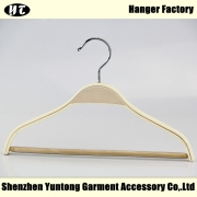 China KTW-002 natural wooden kids hanger with non-slip bar factory