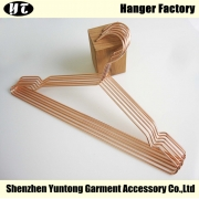 China Copper metal clothes hanger wholesale China hanger supplier factory [MC-001] factory