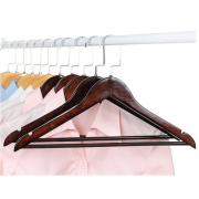 China MSW-021 black flat wooden hanger for home and hotel usage factory