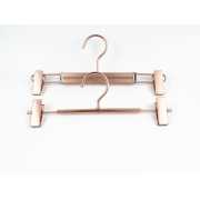 China MTH-003 China hanger supplier rose gold color women metal pants hangers wholesale metal shirts hangers factory