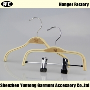 China Natural wood laminated kids top and bottom hanger[KSW-005] factory