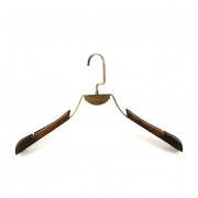 China New design clothes wooden  and metal hanger China hanger supplier [SWT-037] factory