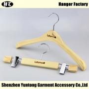 China WSW-007 Women Clothes Hanger in Natural Wood Finish factory