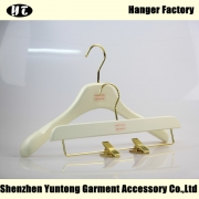 China WSW-018 wooden matched hanger for lady lotud wood top hanger and bottom hanger factory