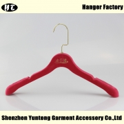 China WTV-002 Good quality red bridal velvet hanger dress hanger factory