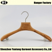 China WTW-003 natural women wooden coat hanger with underness hook factory