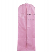 China Warm pink non woven garment bags wedding dress cover bags customized logo-Fabrik