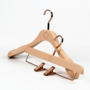 China good quality women clothes wood coat hanger with laser logo china hanger supplier[YT-0517] factory