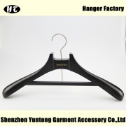 China Unique design black wood coat hanger China hanger supplier[MTW-013] factory