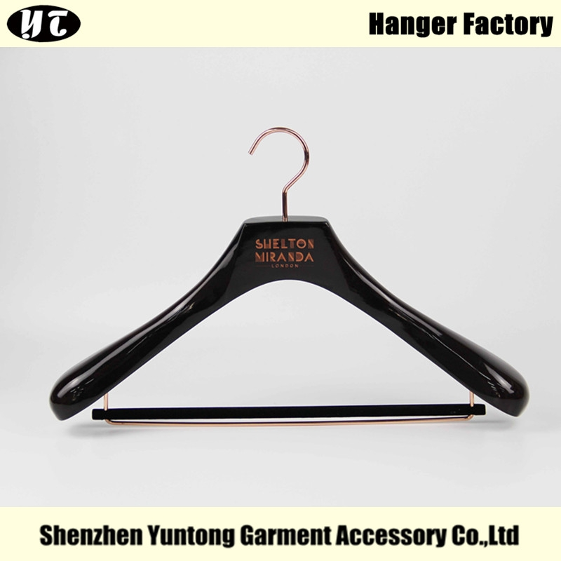 Gloss Brown Color For Suits Custom Luxury Wooden Clothes China Hanger Supplier Factory Msw 023